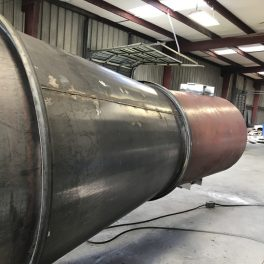 Stainless steel welded industrial smoke stack