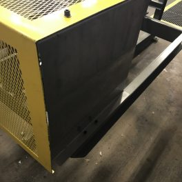 STEEL GUARDING PAINTED SAFETY YELLOW