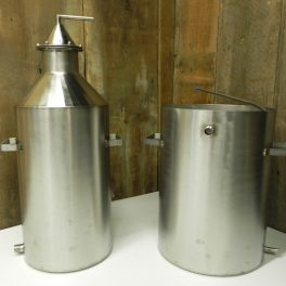 10 GALLON AND 20 GALLON STAINLESS STILL