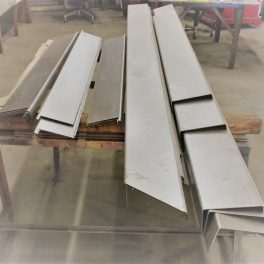 11 GA STAINLESS STEEL CLADDING FOR PARAPET WALL