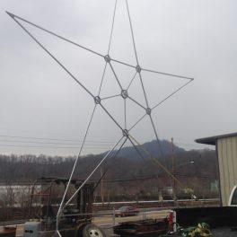 ALUMINUM STAR FOR CHRISTMAS LIGHTS ON ROOF