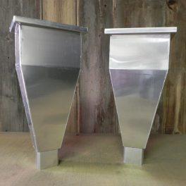 Aluminum guttering scuppers