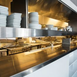 COMMERCIAL KITCHEN STAINLESS STEEL TOP AND TRIM
