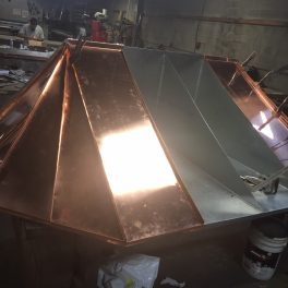 COPPER CANOPY BEING FABRICATED