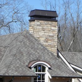 COPPER CHIMNEY CAP AND EYEBROW