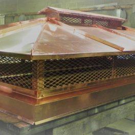 custom copper chimney cap fabrication