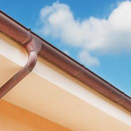 COPPER GUTTER AND DOWNSPOUT