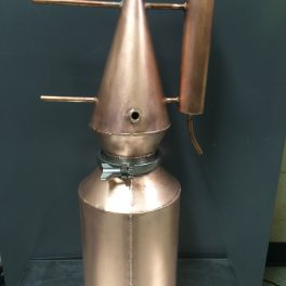 COPPER STILL WITH REFLUXER