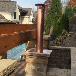 Copper vent pipe and pipe cap