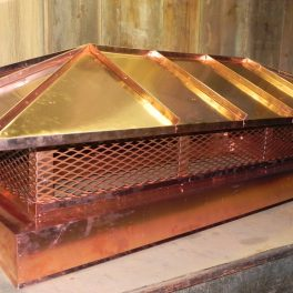 custom copper chimney cap fabrication