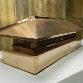 hipped roof copper chimney cap
