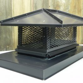 hipped roof painted aluminum chimney cap