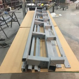 STEEL BRACKETS FOR MARBLE SIDING ON BUILDING