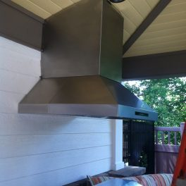 OUTDOOR STAINLESS KITCHEN HOOD