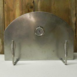 Stainless steel brick oven door