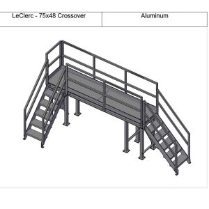 Custom designed crossover steps