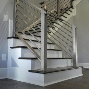 Custom design steel handrail