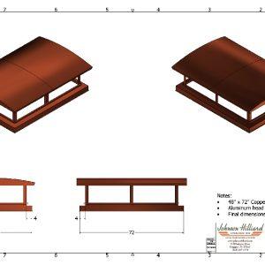 Custom design copper chimney cap