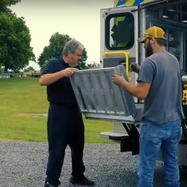 Ambulance stretcher bariatric lift fabrication, replacement for Mac's Bariatric Ambulance Lift