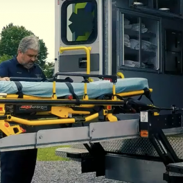 Unlike the Stryker cot, the Ambulance stretcher bariatric lift has a weight capacity of 1350 lbs, replacement for Mac's Bariatric Ambulance Lift